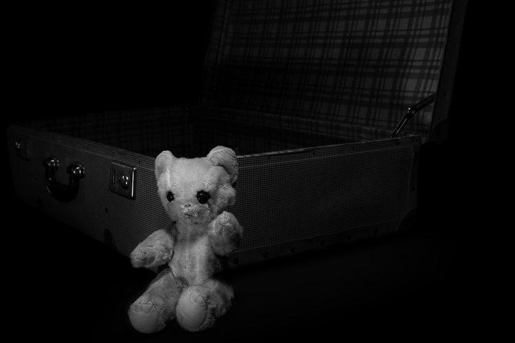 Teddybeer en koffer