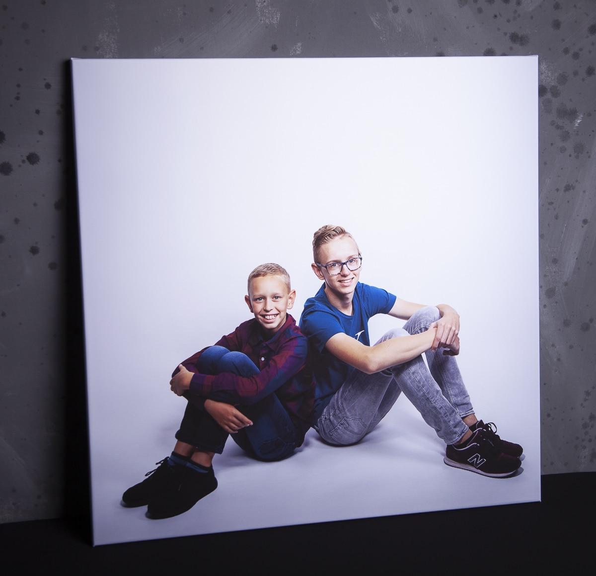 Colin en Remco Studioportret op canvas