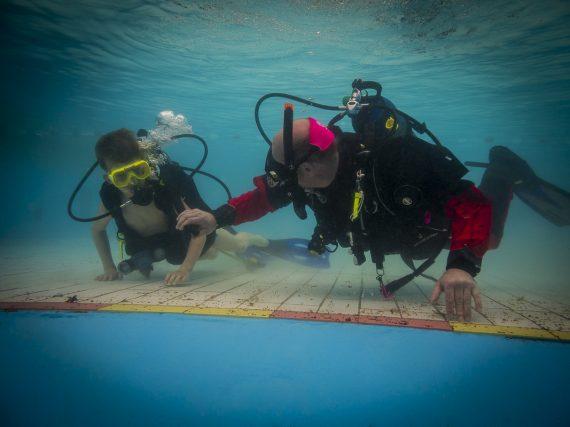 Onderwater fotoportretten