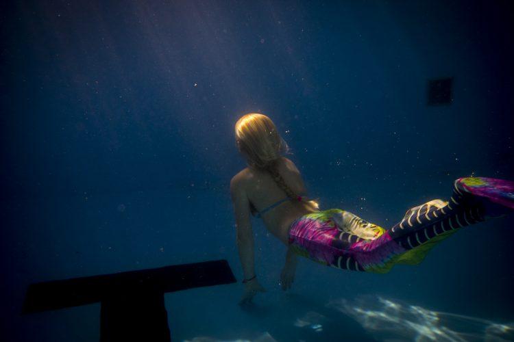 Zeemeermin onderwater