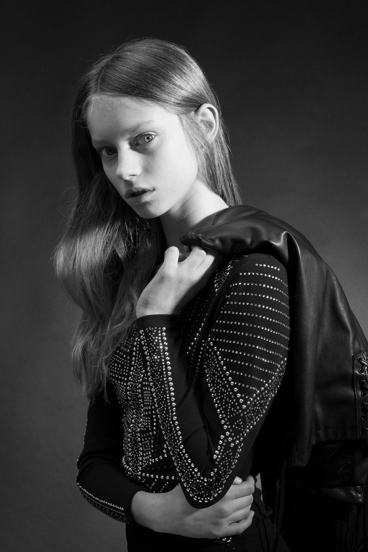 Zwart-wit studioportret