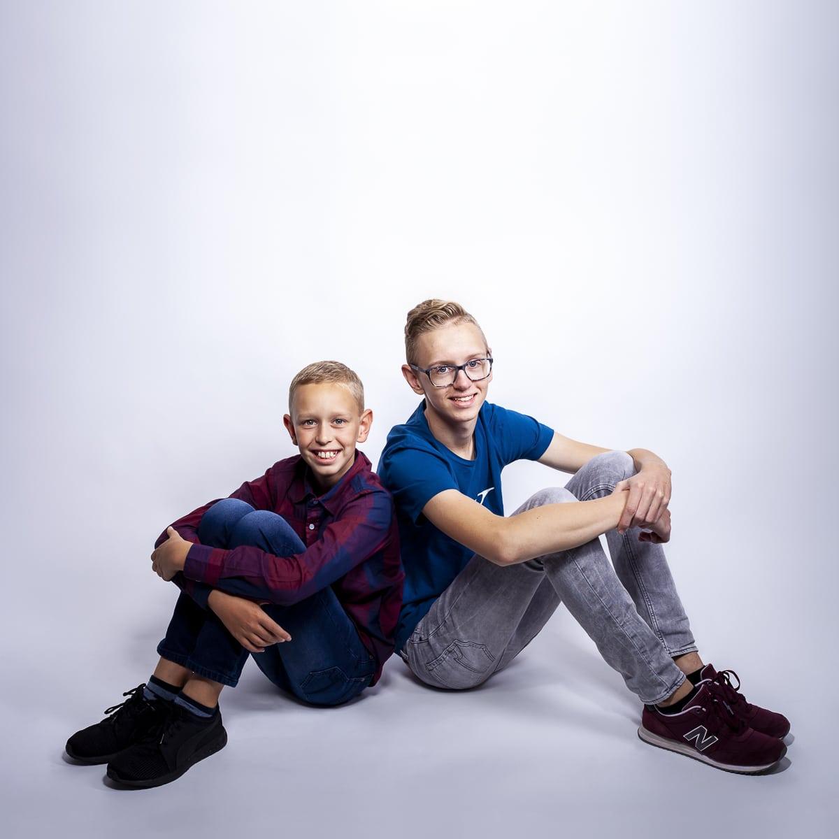Colin en Remco Studioportret