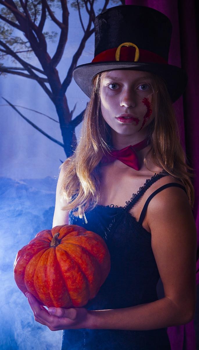 Halloween in Egmond met pompoen