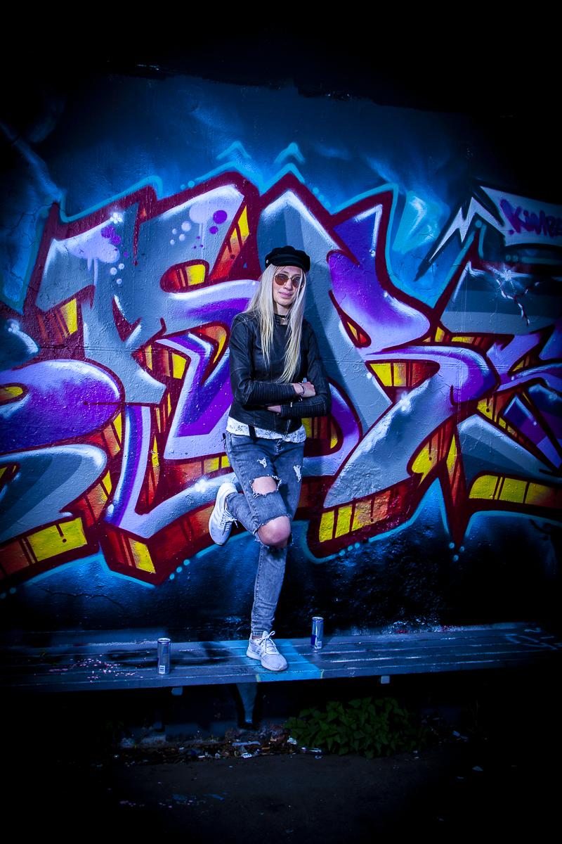 Romy fotomodel graffiti Heerhugowaard Skatepark