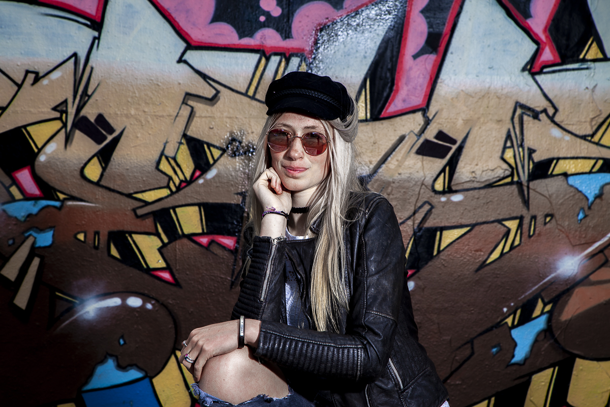 Romy model-photshoot Heerhugowaard Skatepark