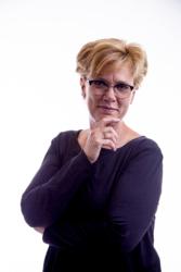 Oog voor Oren Diana Zakelijke portret op witte achtergrond