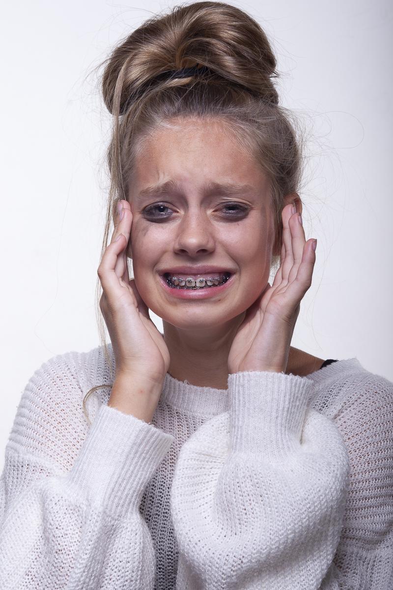 Yasmin Modellenportfolio met emoties
