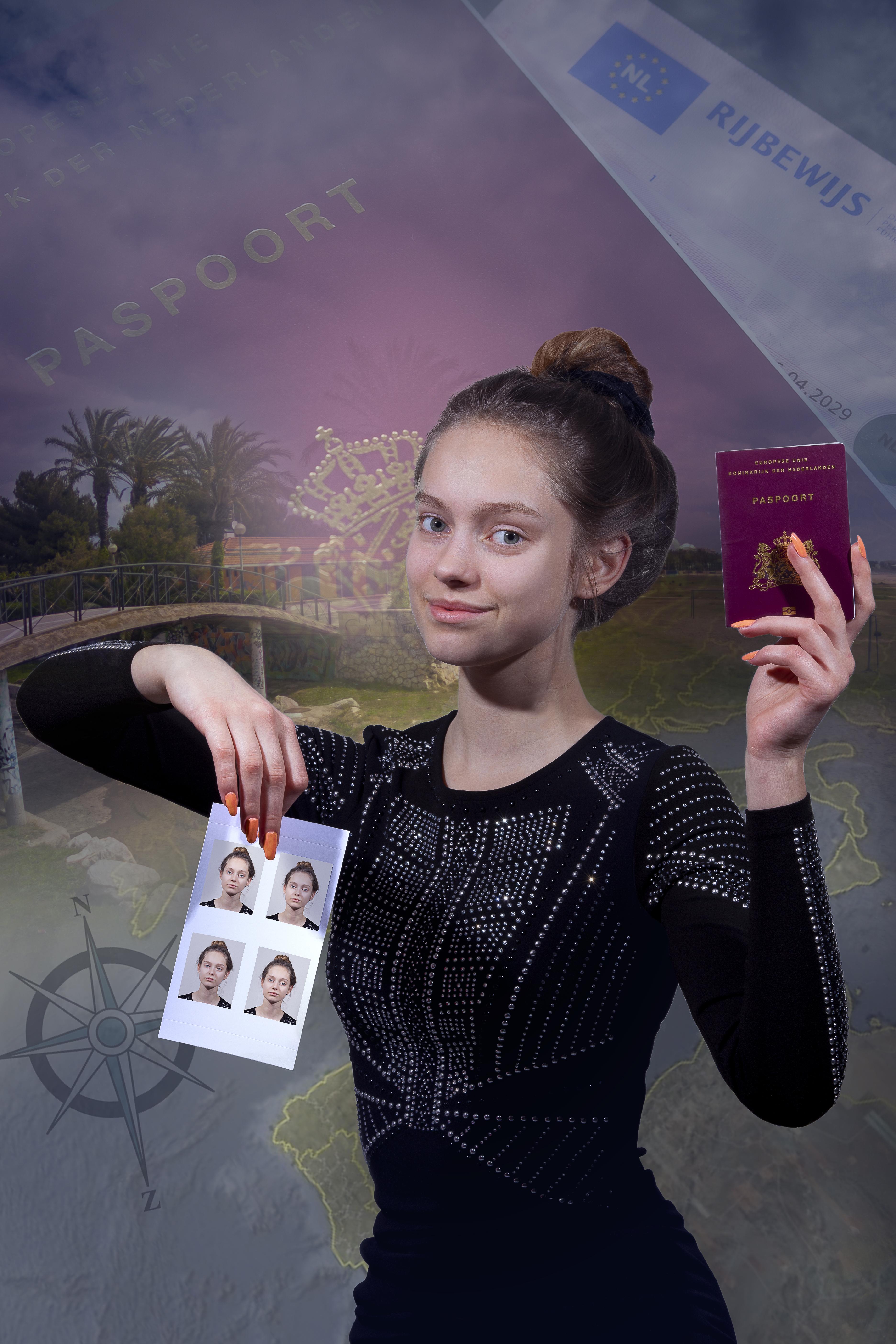 Pasfoto's voor paspoort, rijbewijs of identiteitskaart Hoofdfoto